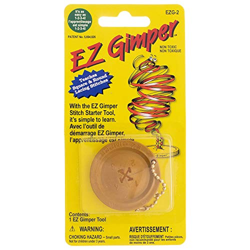- Craft County E-Z Gimper Stitch Starter Tool - Rexlace Knot Tying