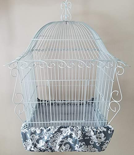 (Penn Seed Seed Guard and Catcher Bird Cage Skirt - Gray & White Elegance (Extra Large (56