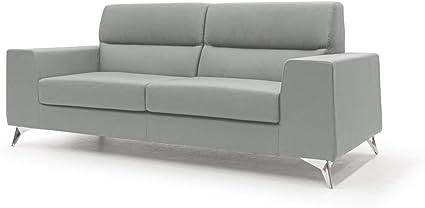 166.5x62x82cm homcom Divano 3 Posti Moderno in Tessuto Grigio con Vano Contenitore e Design Scandinavo Grigio