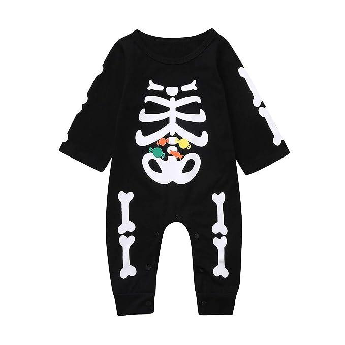 K-Youth Disfraz Halloween Bebe Niña Cosplay Esqueleto Ropa Bebe ...