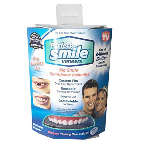 Cotowin Whitening Teeth Stickers Silicone Simulation Teeth whitening dentures Braces False Tooth 1 Set