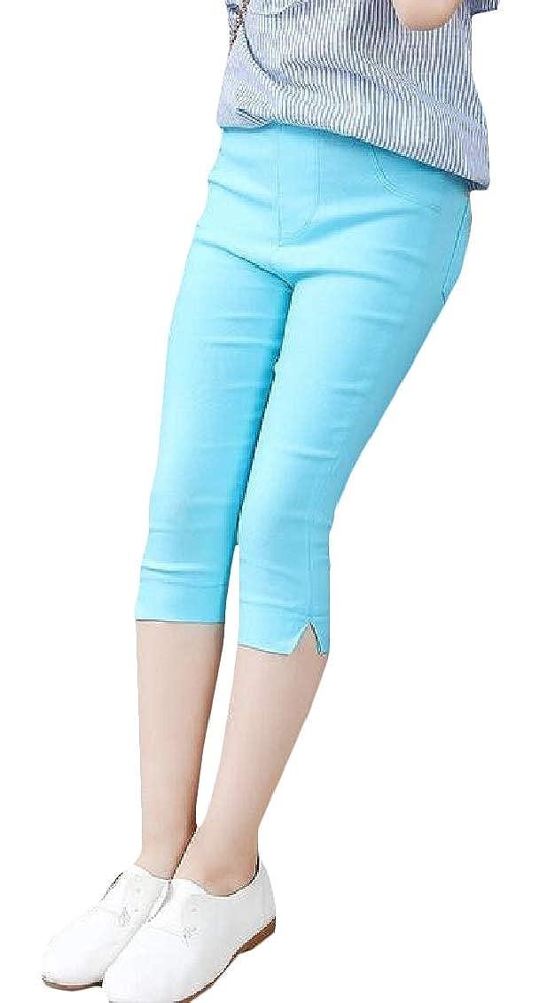 Hajotrawa Girl Fashion Kids Legging Capri Pants Slim Fit Stretchy Legging
