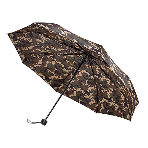 boy Camouflage Travel Umbrella Compact - Suitable for Kids Men and Women