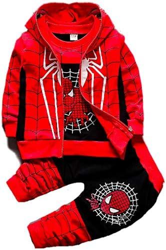 Kid/'s Boys Spiderman Tracksuit Superhero Hoodie Tops+Pants Fancy Dress Festive