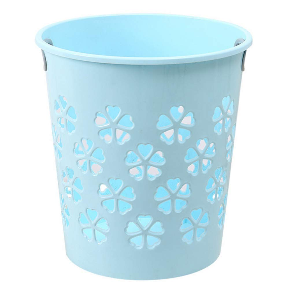 ZKLJT Haushalts-Plastik-Mülleimer Kreative Ausgehöhlte Papierkorb-Abfalleimer Aufbewahren & Ordnen