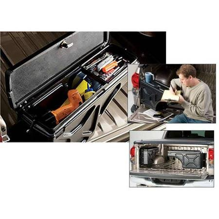 Supercrew Box - Undercover SC201D 97-14 F150 (Except 01-03 Supercrew) Driver Side Swing Case Storage Box