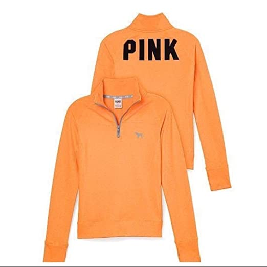 575ba4b453600 Image Unavailable. Image not available for. Color: Victoria's Secret Pink  Ultimate Quarter Zip Sweater ...