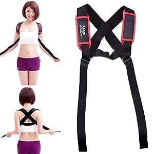 Vktech Adjustable Shoulder Back Posture Corrector Chest Brace Support Belt Vest