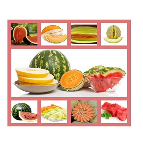 Heirloom Fruit Seeds- Non Hybrid- Real Survival Seeds. Honeydew Green Melon, Banana Melon, Honey Rock Cantaloupe, Watermelon Crimson Sweet, Sugar Baby Watermelon Seeds, Hales Best Jumbo Melon,Non GMO supplier