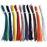"Electronics-Salon 10 Colors UL-1007 26AWG Wires Kit, 200PCS, 150mm(6"")."
