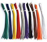 Electronics-Salon 10 Colors UL-1007 26AWG Wires Kit, 200PCS, 150mm(6'').
