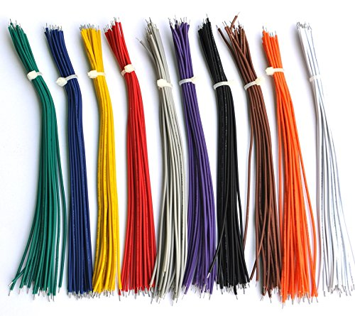 Electronics-Salon 10 Colors UL-1007 26AWG Wires Kit, 200PCS, 150mm(6