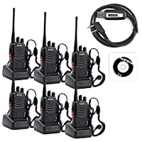 Baofeng Bf-888S Walkie Talkies - Rechargeable Handheld Two Way Radio - Long Range Ham Radio With Original Earpiece For Travel, Camping (Usb Programming Cable Included)