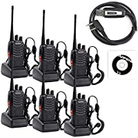 BaoFeng 6pcs 888S+1pcs cable Walkie Talkies - Rechargeable Handheld Two Way Radio