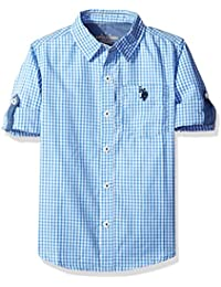 Boys' Long Sleeve Single Pocket Sport Shirt