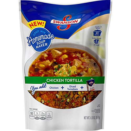 Price comparison product image Swanson Homemade Soup Maker,  Chicken Tortilla,  6.58 Ounce (Pack of 5) (Packaging May Vary)