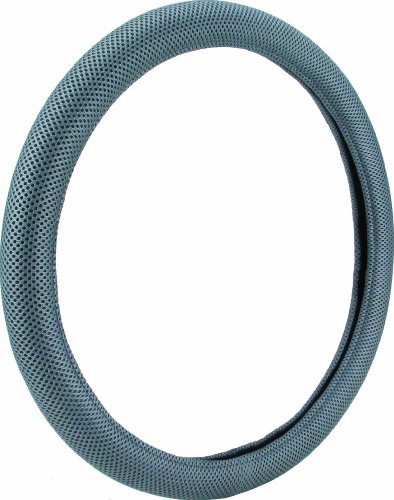 Mesh Steering Wheel Cover - Bell Automotive 22-1-52823-1 Universal Smooth Grips Mesh Steering Wheel Cover, Gray
