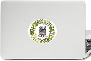Notre Dame Cathedral Paris France Vinyl Emblem Graphic Laptop Sticker Notebook Decal