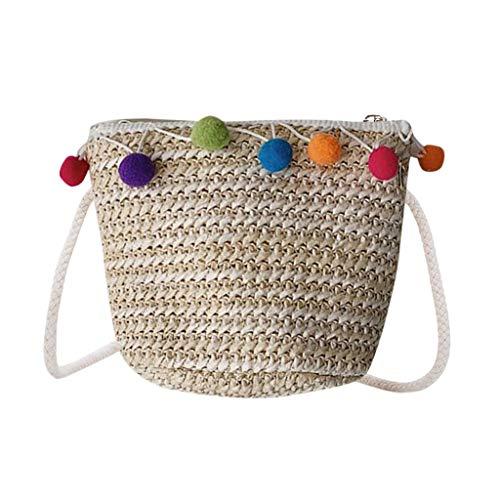 CCFAMILY Children Lovely Weaving Bag Shoulder Messenger Coin Purse Pack For Child ()