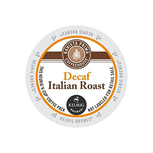- Barista Prima Decaf Coffee, Italian Roast, Rich. Dark. European., 24- Count K-Cup