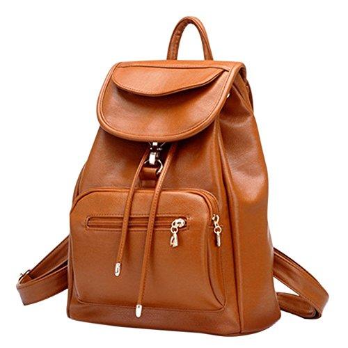 JSbetter - Bolso mochila para mujer Marrón marrón marrón