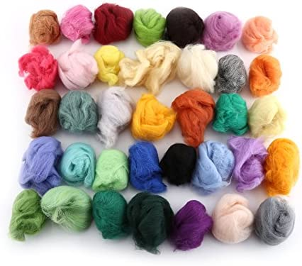 Kit de iniciación de fieltro de aguja, 36 colores, juego de lana ...