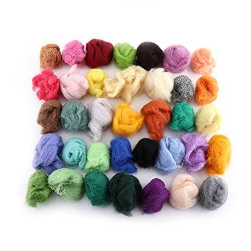 羊毛フェルト 36色 DIY素材 羊毛フェルト 手芸材料 カラフル の商品画像