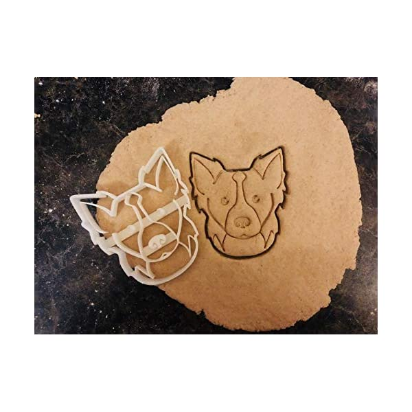 Border Collie Cookie Cutter and Dog Treat Cutter - Dog Face 1