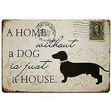 """Nafico Decorative Signs Metal Iron Tin Sign Vintage Pet Dog Decoration Art Bar Home Decor 8""""x12"""""""