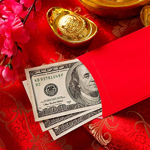 Supla 120 Pcs 6 Design Chinese Hong Bao Red Envelopes Chinese Lucky Money Envelopes Red Packet Lai See Lucky Packet Cash Envelopes Red Pockets for 2019 Chinese New Year Pig Year Wedding Birthday