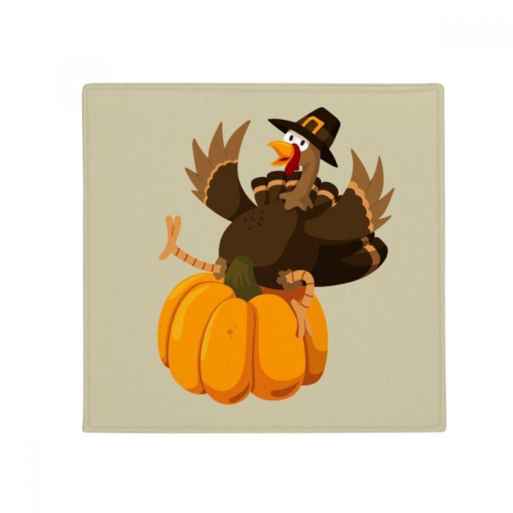 DIYthinker Happy Thanksgiving Day Pumkin Pattern Anti-Slip Floor Pet Mat Square Home Kitchen Door 80Cm Gift