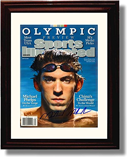 Framed Michael Phelps Autograph Replica Print -