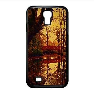 Park Bridge, Autumn Watercolor style Cover Samsung Galaxy S4 I9500 Case (Autumn Watercolor style Cover Samsung Galaxy S4 I9500 Case)