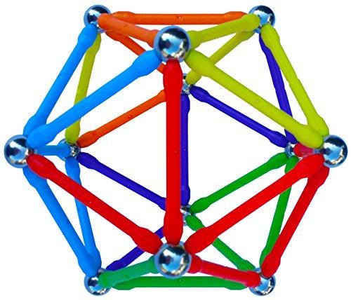 (Mega Magz, 130-Piece Magnetic Construction Set - 66 bars and 64 balls)