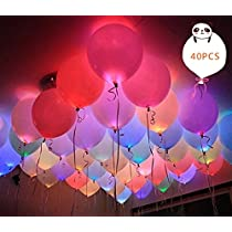 Led Light Balloons by ALUNME Mixed Colors Flashing Balloon Lights Long Standby Time for Dark Party Supplies,Birthday and Festival Decorates