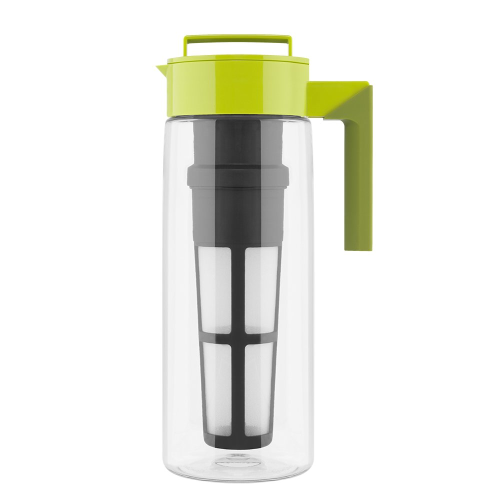 Takeya Iced Tea Maker with Patented Flash Chill Technology, Made in USA, 2 Quart, Avocado