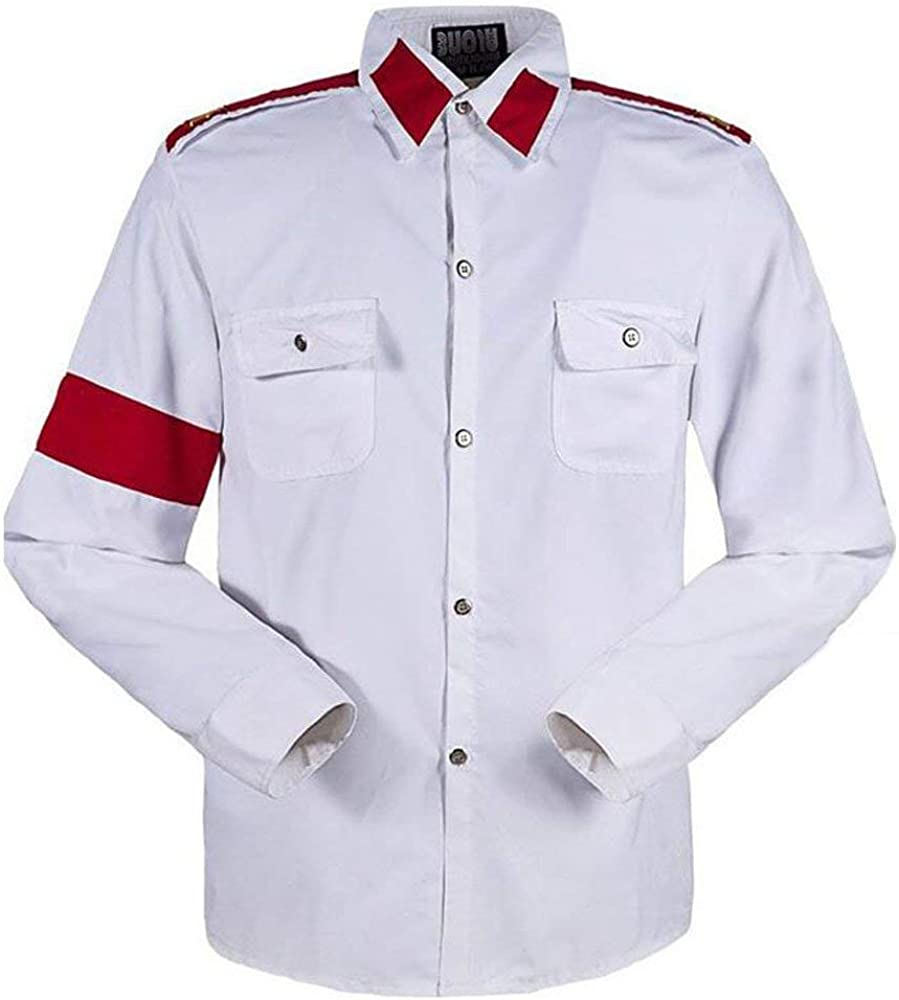 Michael Jackson Camisa para Hombre Michael Jackson Camisa para niños MJ Professional Cosplay Michael Jackson Camisa Estilo CTE para MJ Fans Camisa Blanca en Colores Rojos: Amazon.es: Ropa y accesorios