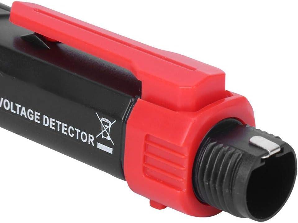 Probador de pluma con linterna LED Indicador de rotaci/ón de 3 fases Probador de voltaje sin contacto HT100P Dual Range 12V-1000V//48V-1000V Detector de voltaje de CA Pluma Alarma de zumbador