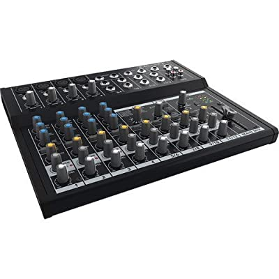 Mackie Mix12FX 12-Channel Compact Mixer with G-MIXERBAG-1212 Padded Nylon Mixer Bag & PB-S3410 3.5 mm Stereo Breakout Cable, 10 feet Bundle by Mackie