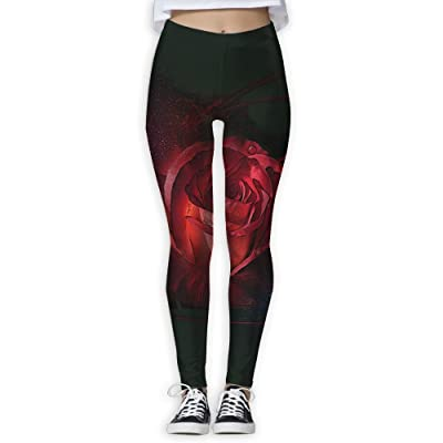 LuckYYou Rose Cool Yoga Pants For Youth L