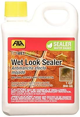 FILA Wet-Look Eco Sealer 1 Quart, Natural Stone Cleaner and Sealer, Water Based Sealer, Tile Sealer Cleaner Eco-friendly