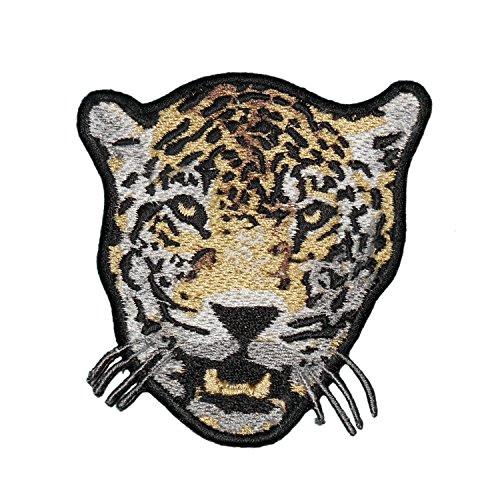 (Snow Leopard Wild Cat Embroidered Decorative)