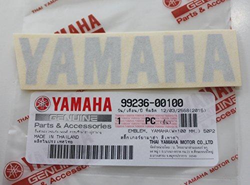 Yamaha 99236 00100   Genuine Yamaha Decal Sticker Emblem Logo 100Mm X 23Mm Metallic Silver Self Adhesive Motorcycle   Jet Ski   Atv   Snowmobile