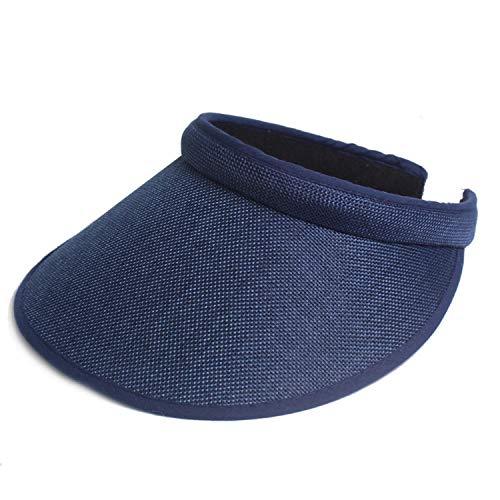 Women Summer Outdoor Beach Fashion Cap Hats Sunhat Sun Hats for Women Chapeau Femme Empty Roof Solid Color Sunhat,Navy Blue,Kids]()
