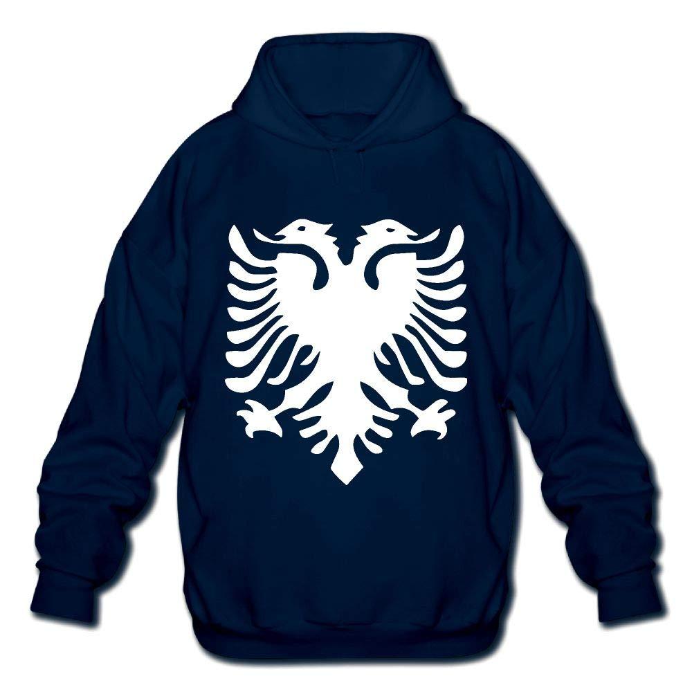 OPQRSTQ-O Albanian Flag Mens Printed Hooded Sweatshirt Hoody