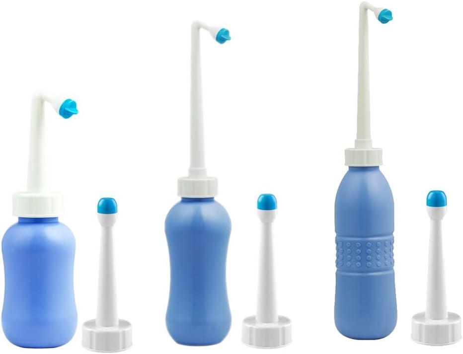 450 ml BIlinli Bidetgewindebohrer Bidet Sprayer Reise-Bidetflasche Gro/ße 300 ml 650 ml Tragbar mit 2 D/üsen /& Staubkappe /& Reisetasche
