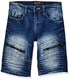 Southpole - Kids Boys' Big Denim Biker Shorts, Dark Sand Blue 4, 12