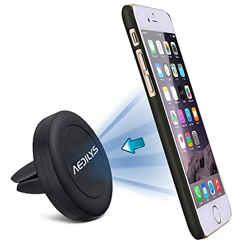 Car Phone Holder, AEDILYS Air Vent Car Mount Phone Holder with 360° Rotation for iPhone 8 / 7/7 Plus/6S/6 Plus 5S SE, Samsung Galaxy S7/S6 edge/S6/S8 (NO3)