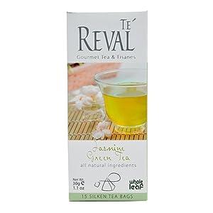 Te Reval Jasmin Green Tea, 2g (15 Tea Bags)