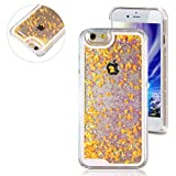 bling 49ers license plate frame - Rinastore iPhone 6s case,iphone 6 case,Creative Design Flowing Quicksand Moving Stars Bling 3D Glitter Floating Dynamic Flowing Case Liquid Cover for Iphone 6 4.7inch (Orange heart)